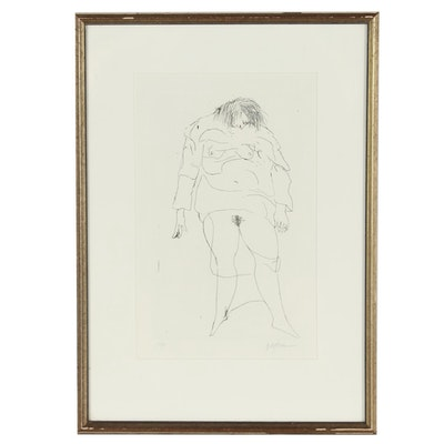 Leonard Baskin Abstract Figural Etching