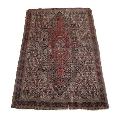Hand-Knotted Persian Moud Rug, Circa 1920