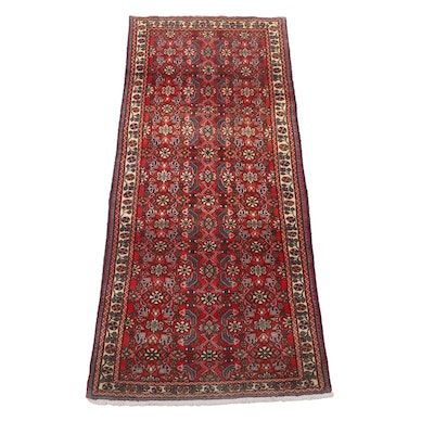 Hand-Knotted Persian Jozan Wool Rug