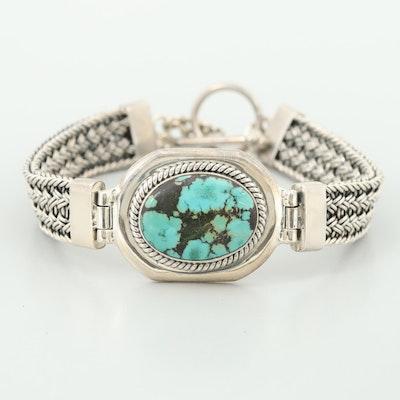 Southwestern Sterling Silver Turquoise Bracelet