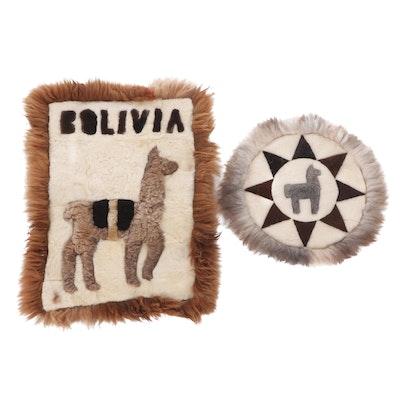 Bolivian Vicuña Llama Wool Accent Rugs