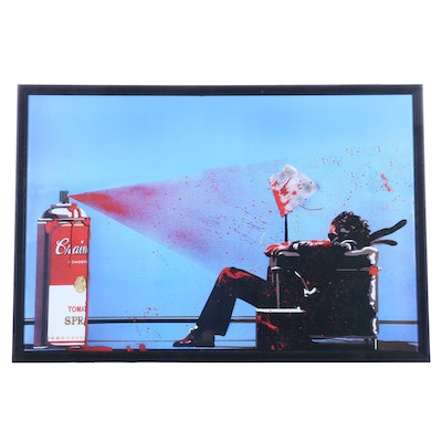 "Offset Lithograph after Mr. Brainwash ""Max Tomato Spray"""