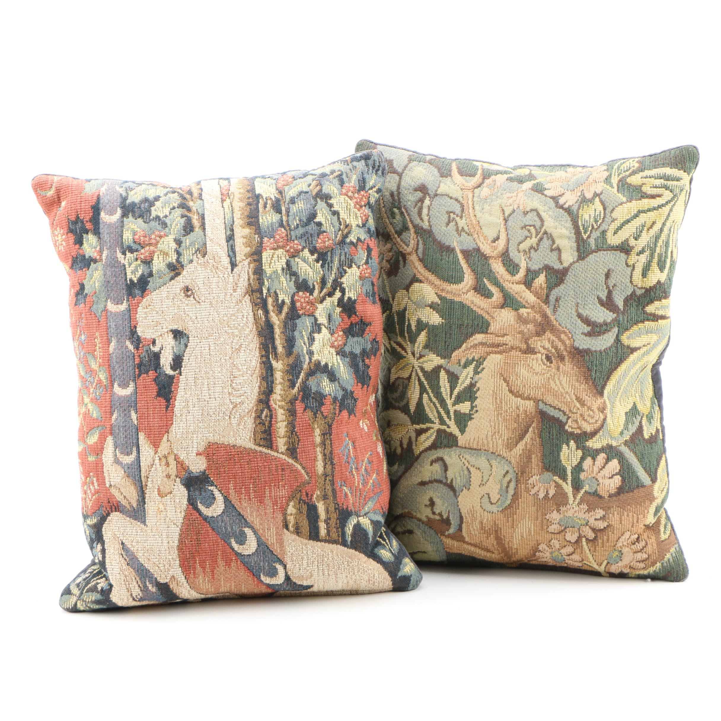 Hand Quilted And Cross Stitch Pillows | EBTH