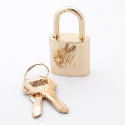 Louis Vuitton Paris Brass Handbag Luggage Lock with Keys