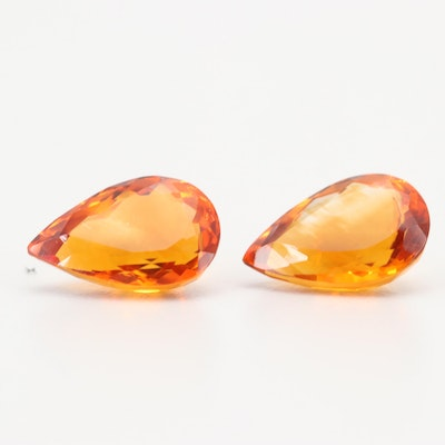 Loose 9.62 CT Citrine Gemstones