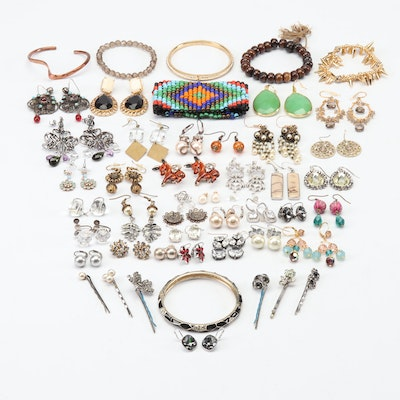 Swarovski, Sequin, Sterling Silver and More Jewelry