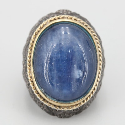 Men's Sterling Silver Sapphire Ring