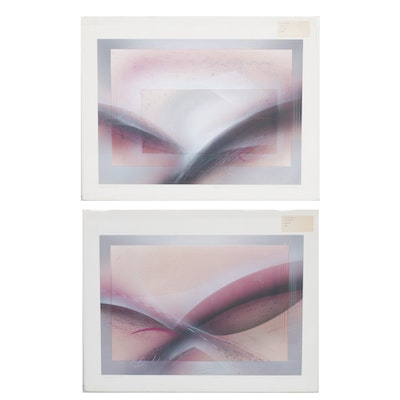 "Richard Quinn Serigraphs ""Dolphin I and II"""