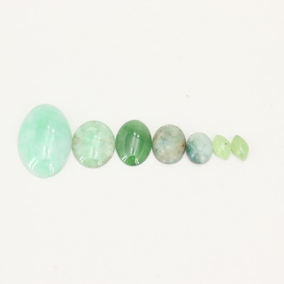 Loose 18.77 CT Jadeite Gemstones