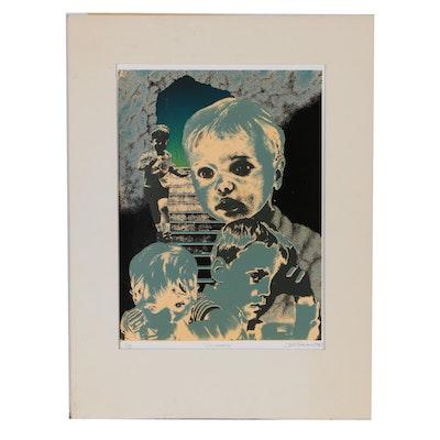 "Joe Thacker 1981 Serigraph ""Childhood"""