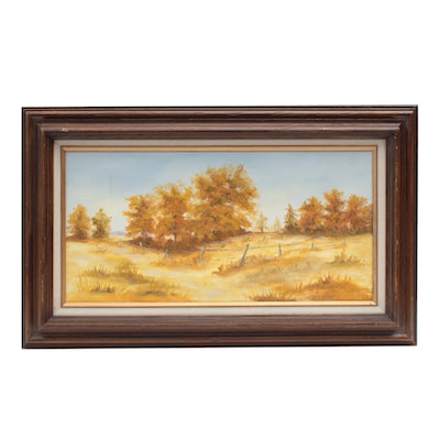 S. Fairbrother Landscape Oil Painting