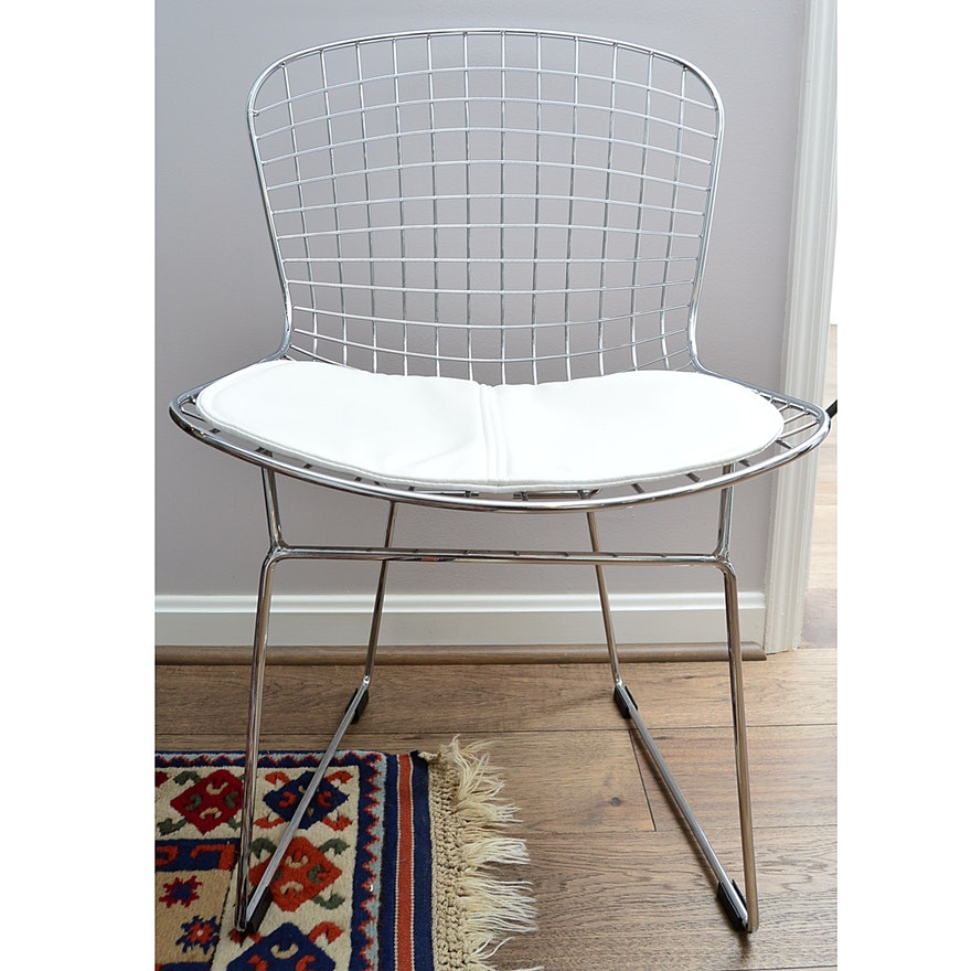 Contemporary Bertoia Style Wire Chair
