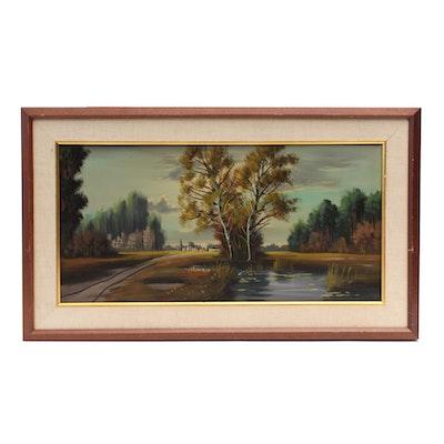 P. Kleine Landscape Oil Painting