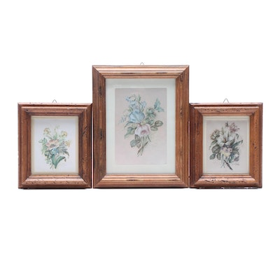 Decorative Floral Wall Art, Mid to Late 20th Century