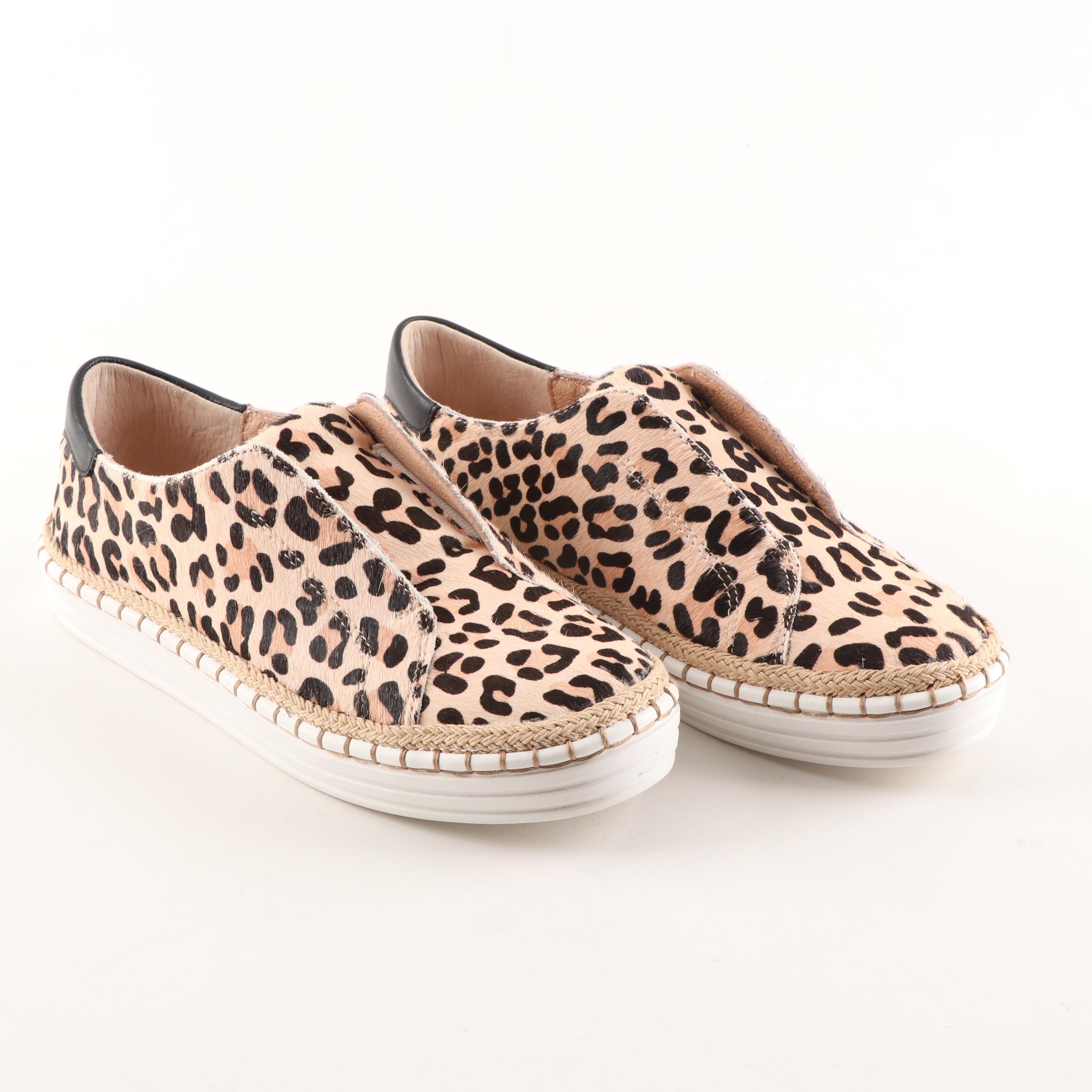 J/Slides Leopard Pony Leather Karla