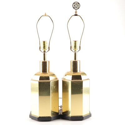 Chinoiserie Brass Finished Table Lamps