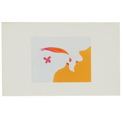 "William Downing Abstract Serigraph ""Nectar No. 71"""