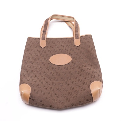 Gucci Brown Canvas Horse Bit Shopper Tote Bag