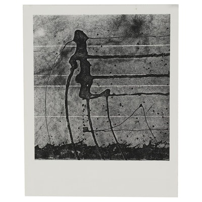 """Don Jim Silver Gelatin Photograph from """"Warriors (Abstract Tar Drippings)"""""""