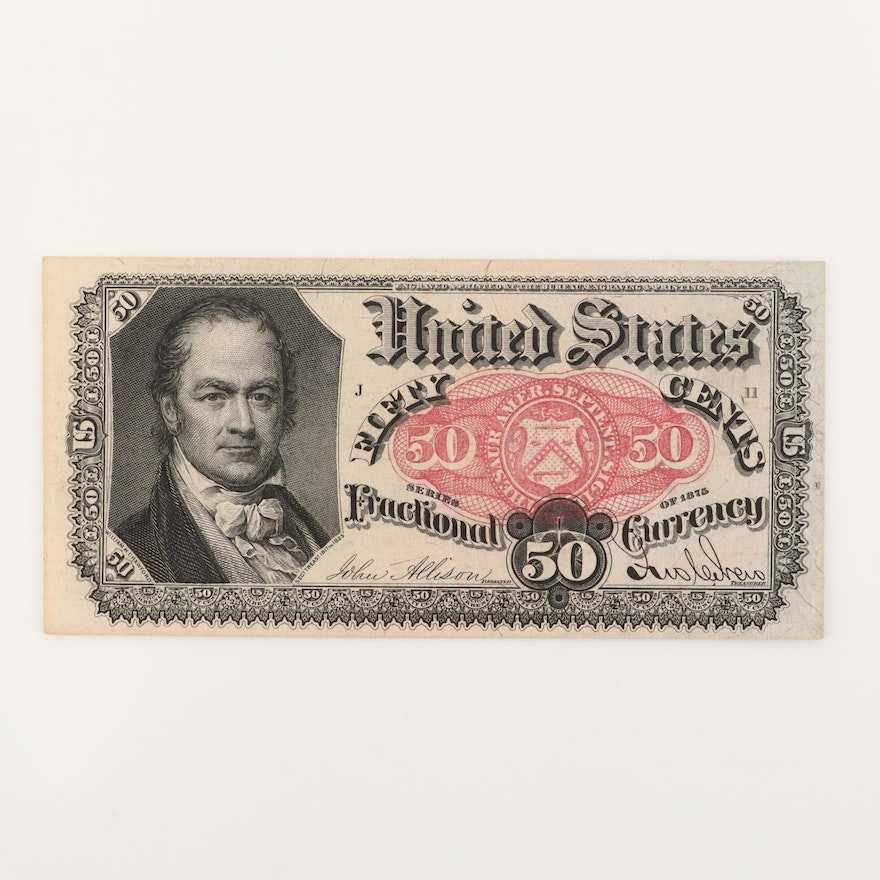 U.S. Fifth Issue Series of 1875 50-Cent Fractional Currency Note