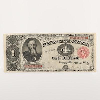 Large Format Series of 1891 $1 U.S. Treasury Note
