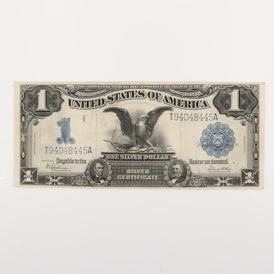 "Large Format Series of 1899 $1 ""Black Eagle"" Silver Certificate"