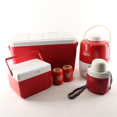 Coleman Drink Cooler with Spout, Cooler, Lunch Box, Thermos and Accessories