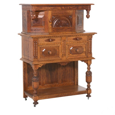 Hecht Brothers Jacobean Style Wooden Court Cabinet
