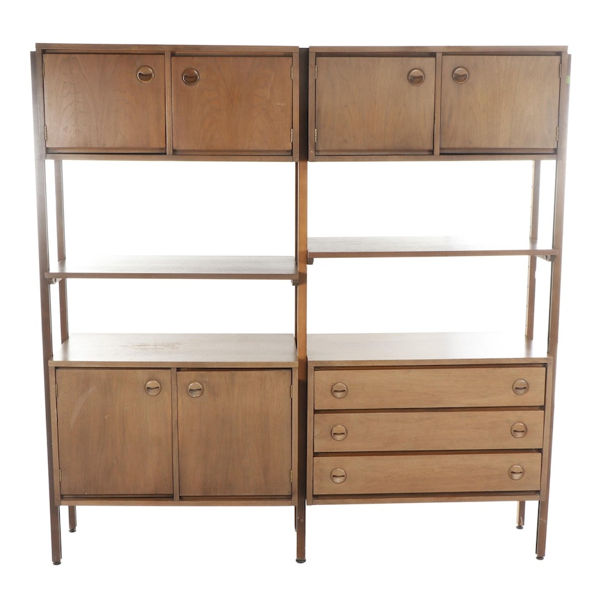 Mid Century Modern Wall Unit Storage System After George Nelson
