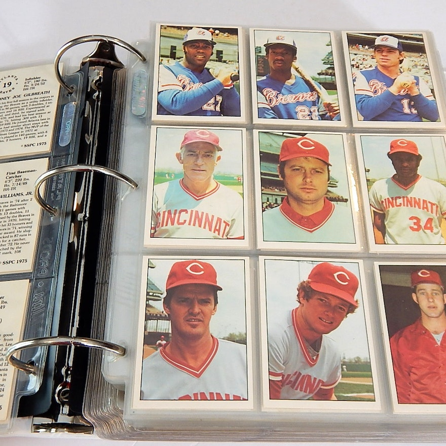 1975 Sspc Baseball Cards In Album With George Brett Rookie Robin Yount Rc