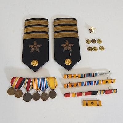 Military Bar Pins, Medals, Naval Officer Shoulder Bars