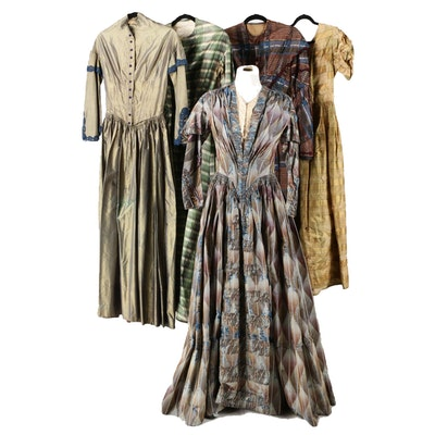 Silk Taffeta Dresses, Mid-19th Century