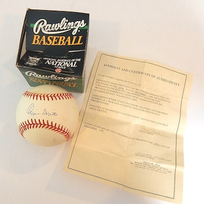 Ozzie Smith Signed Baseball, COA