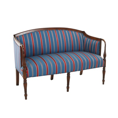 Federal Style Custom-Upholstered Mahogany Sofa, 20th Century