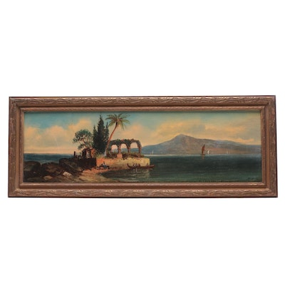 R. O. Smith Early 20th Century Neapolitan Oil Painting