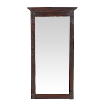 Eastlake Cherry Hardwood Rectangular Wall Mirror