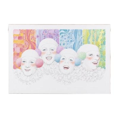 "Ben Black Watercolor Painting ""Beatles"""