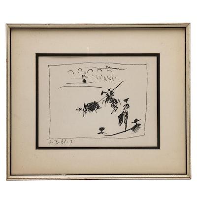 "Pablo Picasso Lithograph  ""La Pique (I)"""