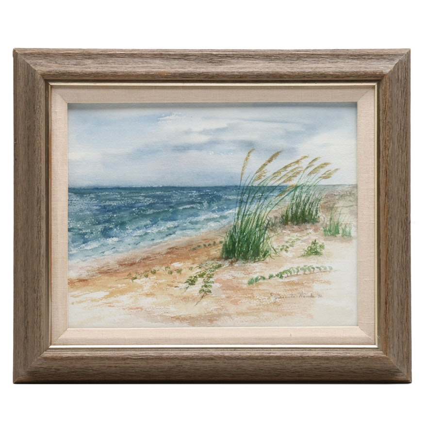 Juanita Wenke Watercolor Painting of Coastal Landscape