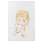 """Ben Black Watercolor Painting """"Lisa Becker Grimshaw"""""""