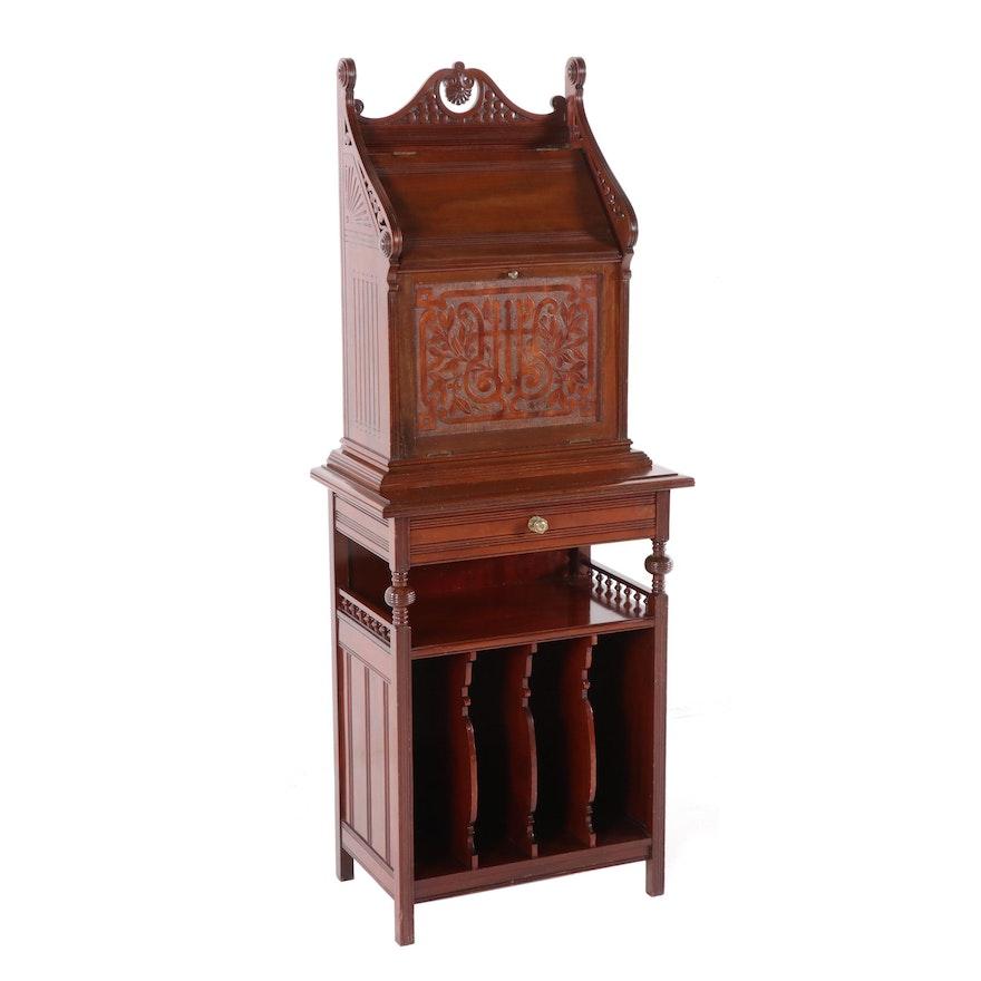 English Mahogany Sheet Music Cabinet