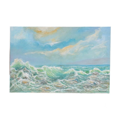 Robert Riddle Seascape Acrylic Painting