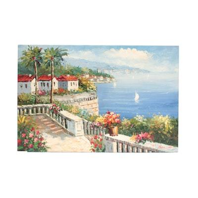 Burnett Oil Painting of Costal Scene