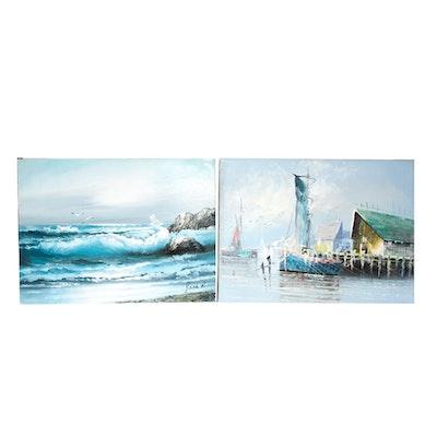 Jack R. Seascape Oil Painting