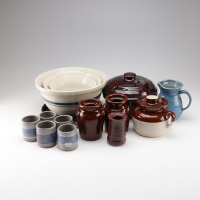 Stoneware Serveware with Robinson Ransbottom, Friendship Pottery and Marcrest