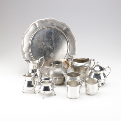Steiff, F.B. Rogers and More Pewter Tableware, Vintage