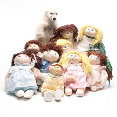 Thomas Cabbage Patch Dolls, Coleco Dolls, and Other Dolls and Stuffed Toys