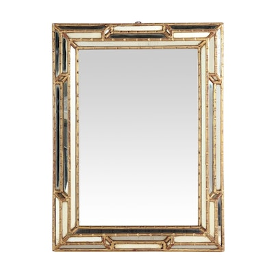 Mid-Century Faux Bamboo Giltwood Wall Mirror