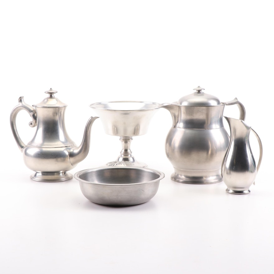 Royal Holland, L. Hitchcock and Other Pewter Serveware
