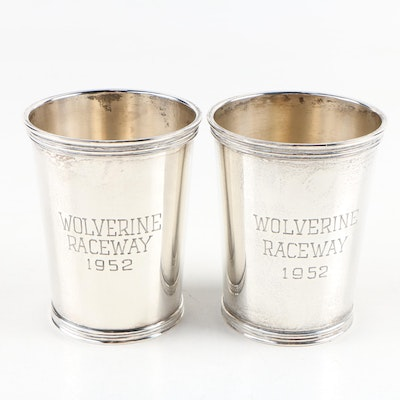 International Sterling Silver Wolverine Raceway Julep Cups, 1952